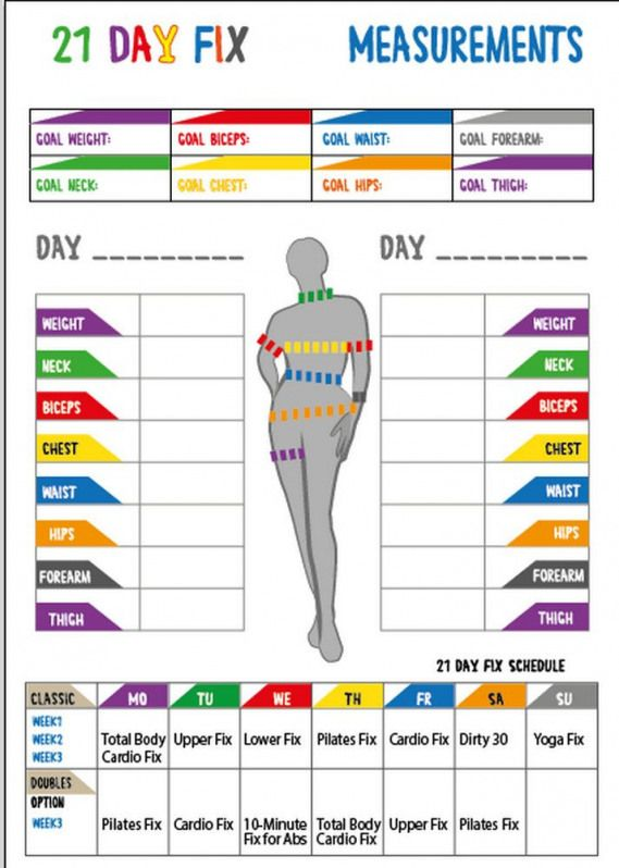 Calendario 21 Day Fix.21 Day Fix 21 Day Fix Printables21 Day Fix By