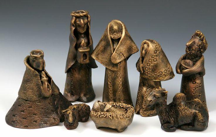handbuilt clay nativity - Google Search