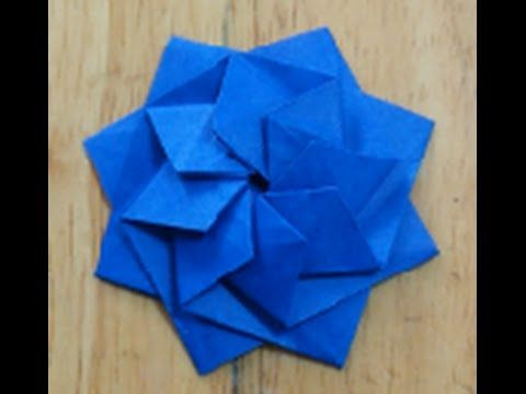 折り紙(おりがみ)・how to fold an origami : anemone_A