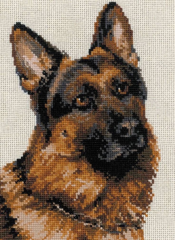 German Shepherd Cross Stitch Kit Bordados Punto Cruz