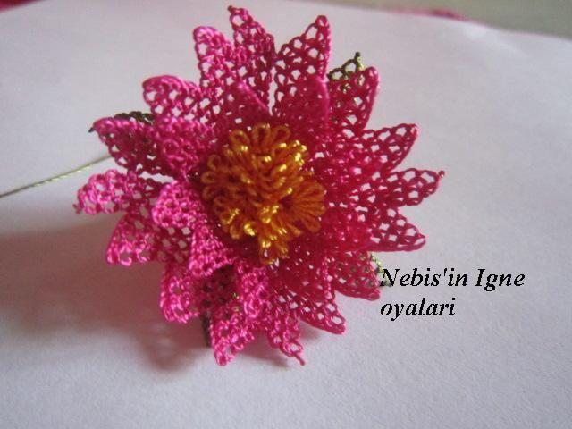 Anatımlı İğne Oyası Çiçek Yapılışı   Hobilendik.net