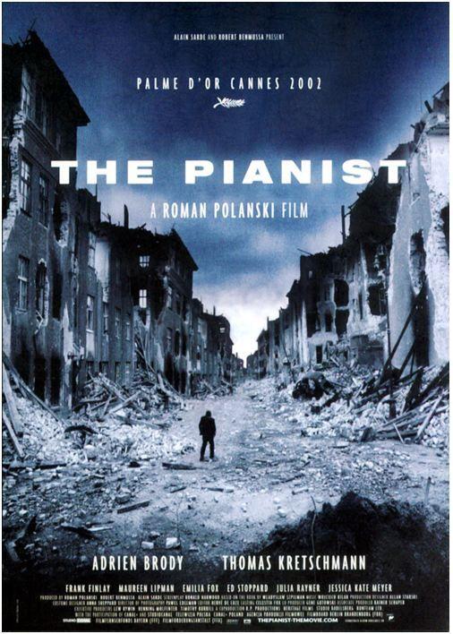 Película del año 2002 que narra la historia del músico polaco Władysław Szpilman, interpretado por Adrien Brody.