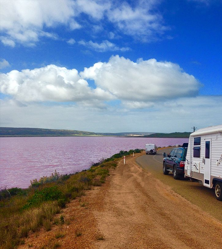 Travel In Perth: The Pink Lake Is Accesible By George Grey Drive