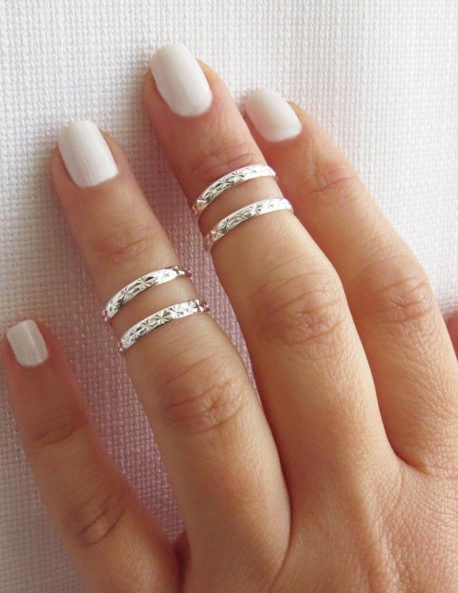 Silver Knuckle Rings ~ we ❤ this! moncheriprom.com #promjewelry