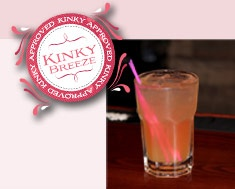 Kinky Breeze:  2 oz. Kinky Liqueur  1 oz. RonDiaz Coconut Rum  Splash of Pineapple Juice