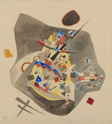 High Angle--Gray Spot (Grauer Fleck), December 22, 1922. Watercolor, gouache, ink, and graphite on paper, 18 3/8 × 16 3/4 inches (46.7 × 42.5 cm). Solomon R. Guggenheim Museum, New York , Solomon R. Guggenheim Founding Collection, By gift, 37.253. © 2013 Artists Rights Society (ARS), New York / ADAGP, Paris