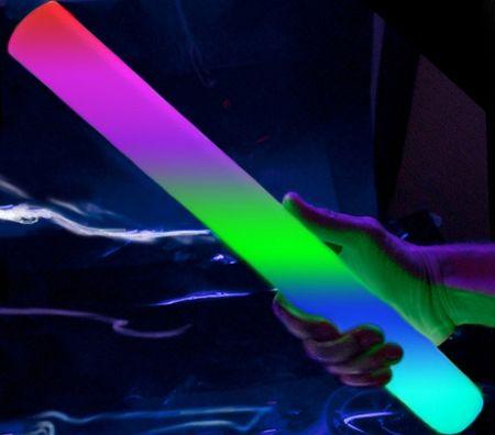 LED Glowing Foam Sticks   Light Sticks   Light Up Foam Sticks   Glow Stick Wand   Glowsource.com
