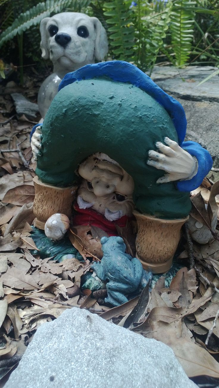 Fairy lawn ornaments - A Squatting Garden Gnome Is Also Depicted To Perform Different Humorous Activities And Is An Actual Fun Element To Charm Your Garden Or Yard