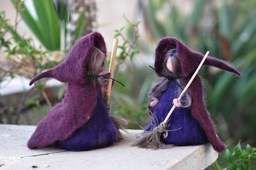 lovely needle felted doll #witch #halloween