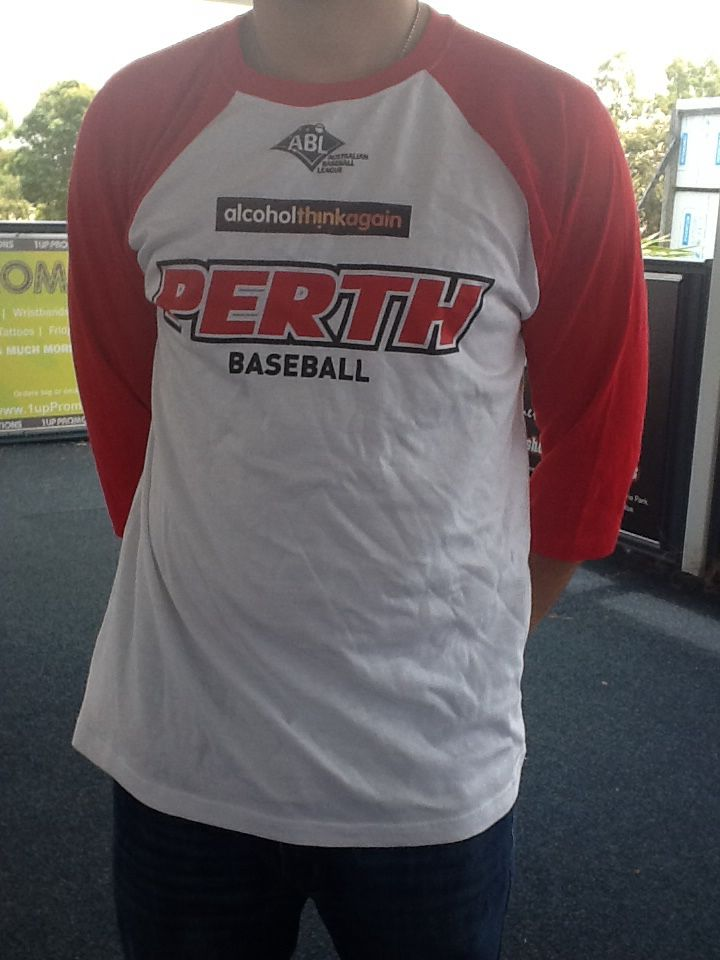 Perth Heat 2014/15 Raglan Long Sleeve Tee $30 Can be purchased on game day or contact us at 08 6336 7950 or perthheatmerch@gmail.com