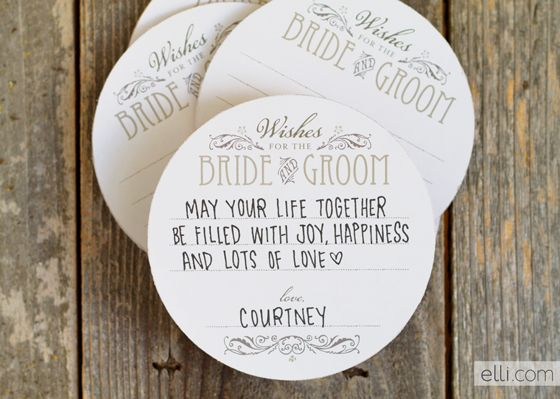 Free Wedding Wishes Coaster Printable