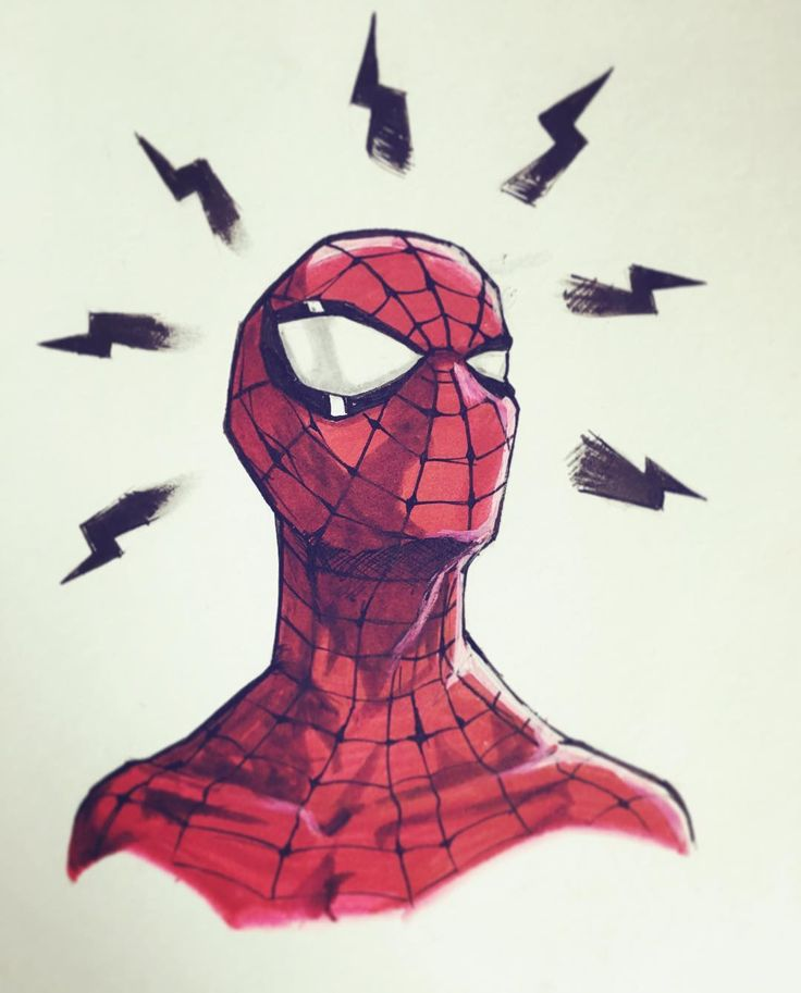 """252 Likes, 5 Comments - Tom Velez (@thetomvelez) on Instagram: """"Have you seen Homecoming yet?? Spidey sketch I did over the weekend. Really liked the different…"""""""