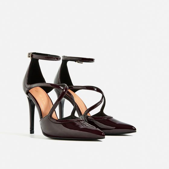 Image 3 of STRAPPY PATENT FINISH HIGH HEEL SHOES from Zara