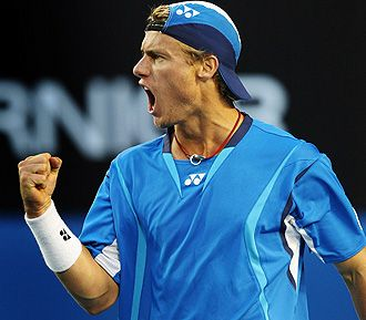 Lleyton Hewitt....beats Juan Martin Del-Potro....he is having an amazing year....life in the old dog yet!!!