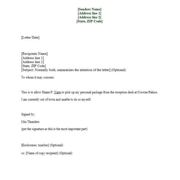 authorization letter samples templates template lab throughout - sample authorization letter