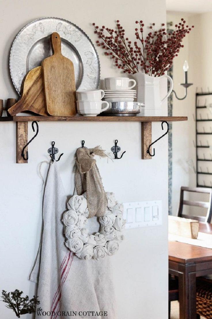 Christmas Kitchen Shelf - 15 DIY Winter Decoration Tutorials | GleamItUp
