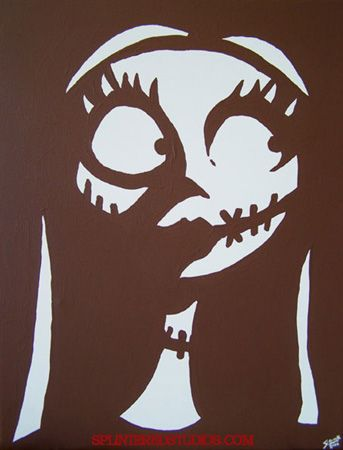 """A Nightmare Before Christmas Painting """"Sally"""" - Splintered Studios - The Art of Stephen Quick"""