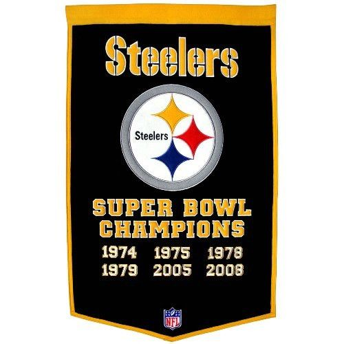 Pittsburgh Steelers Super Bowl Dynasty Banner