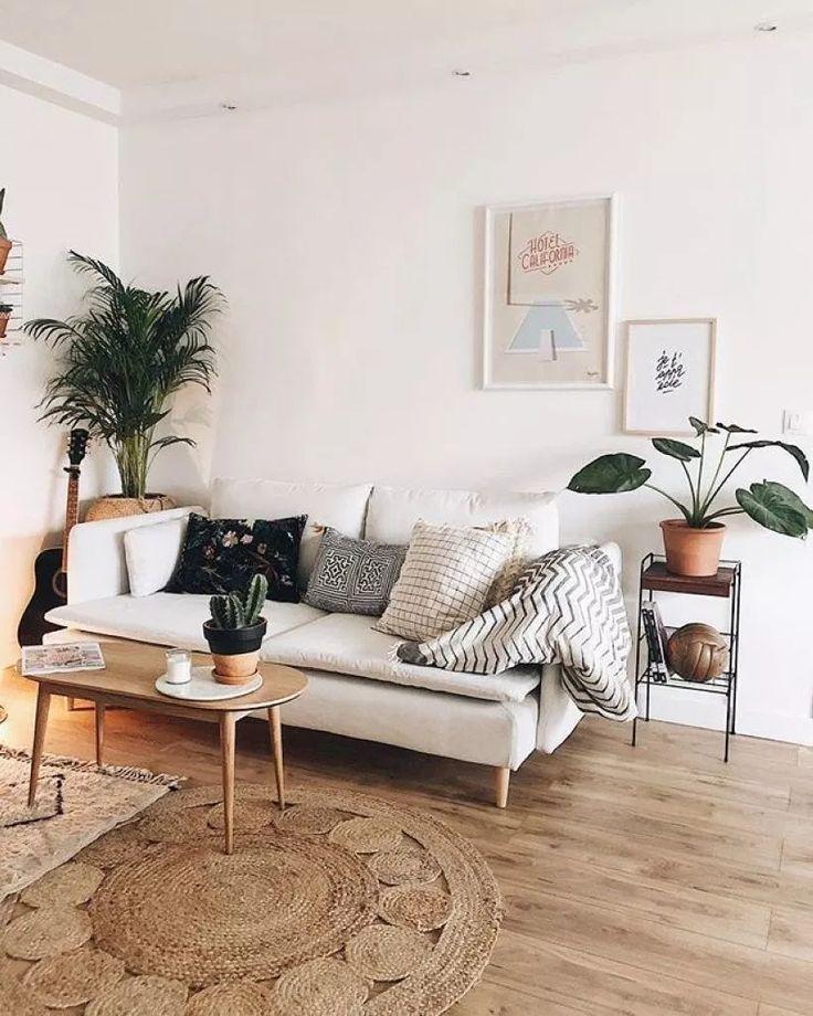 Ordentliche und gemütliche Wohnzimmer-Ideen für kleine Wohnung 44