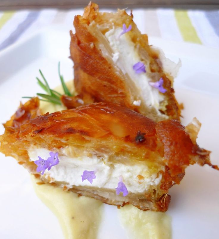 Crujiente de queso de cabra con mermelada de naranja 4