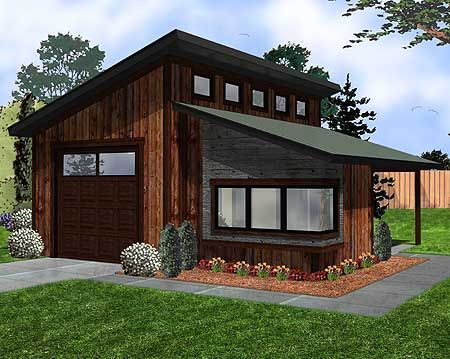 Plan 62574dj Modern Garage With Shop In 2019 Carriage