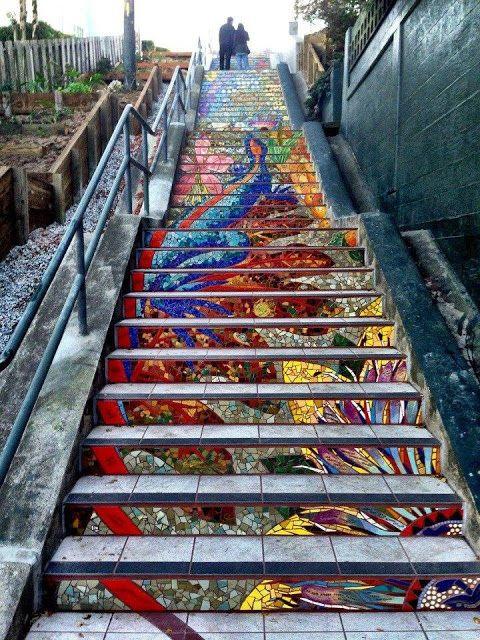 Undo The Dry Spell: Street Art 2 Mosaic Stairs