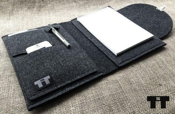 Feltro borsa per notebook. Handmade feltro copertura del di TTdsgn