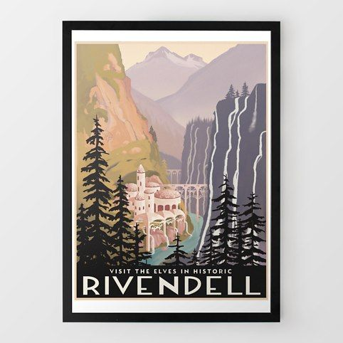 Historic Rivendell Travel Print - for the LOTR geek
