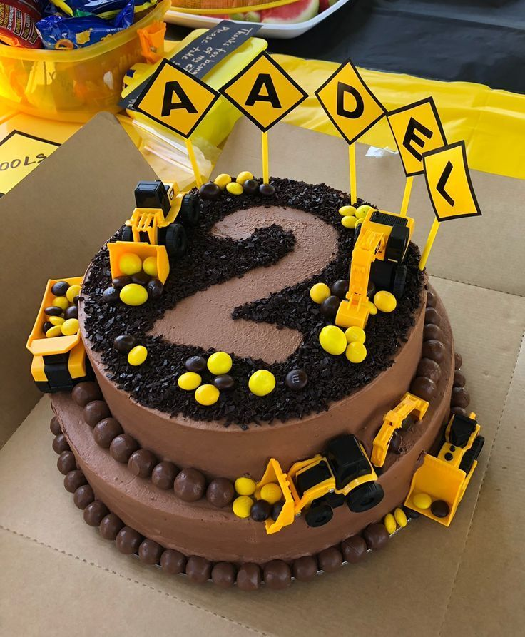 Bau Party-Torte Was für eine tolle Idee für die nächste Kindergeburtstagsparty mit …   – Construction-Party | The perfect theme for a toddler birthday party