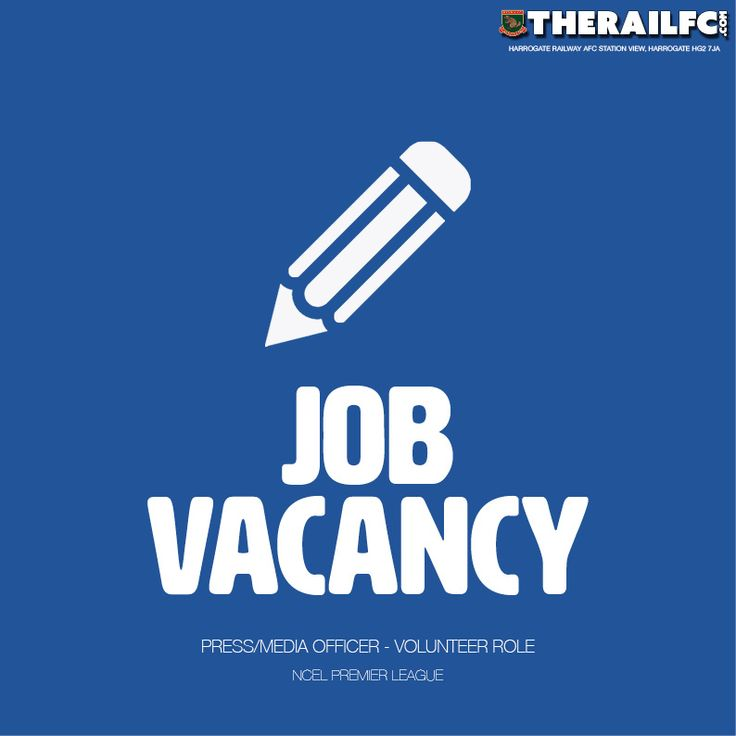 Railway are looking for a media/press officer, get in touch for more details.    @therailfc @NCEL #NCEL #Harrogate