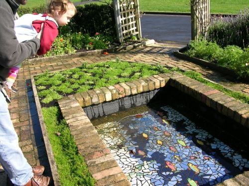 Mosaic fish pond - just add water