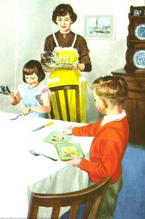 Laying the table -  Helping At Home - Ladybird Books 1961