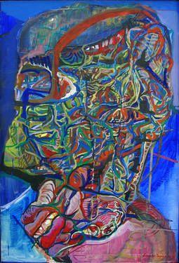 """Saatchi Art Artist luminita taranu; Painting, """"CELLULAR SPACE"""" #art"""