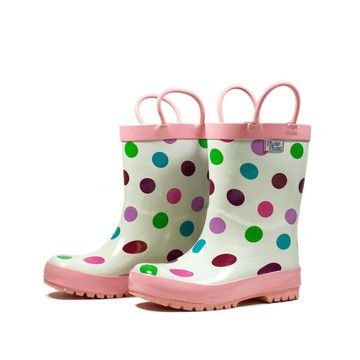 I liked this design on #Fab. Polka Dot Rain Boot