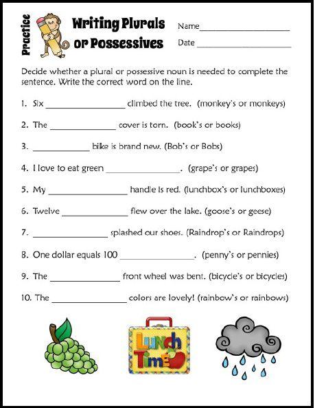 Plural Possessive Nouns Worksheets For 4th Grade - nouns worksheets ...