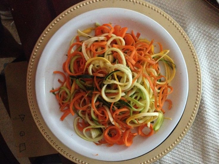 Zucchini, Squash And Carrot Noodles. Raw, Simple And Delicious! Made With  Gefu