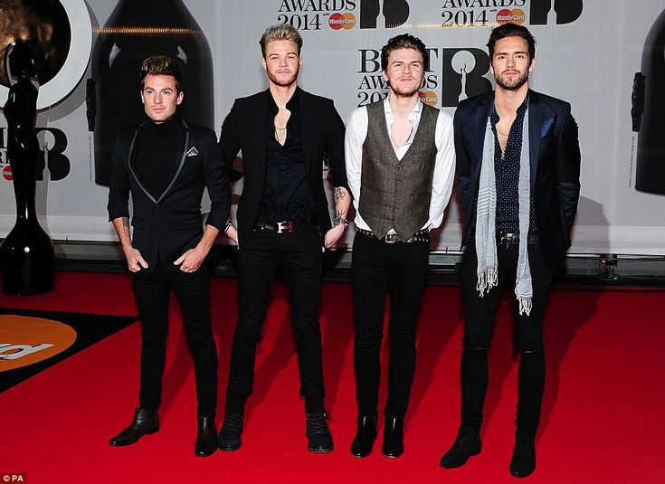 Fresh-faced: Boy band Lawson certainly scrubbed up well for the evening. I love you Lawson!
