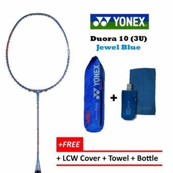 Yonex Duora 10 (3U) Jewel BlueFree CoverFree Gift Badminton Racket