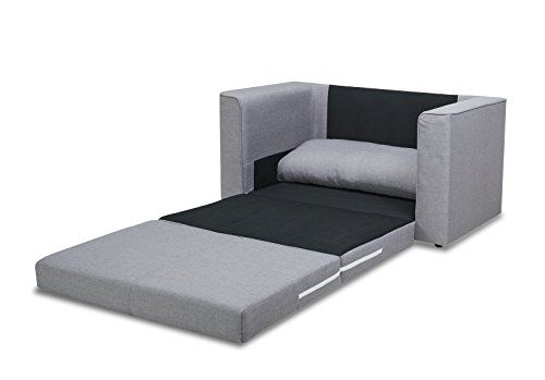 US Pride Furniture Ava Modern Reversible Fabric Loveseat & Sofa Bed, Grey