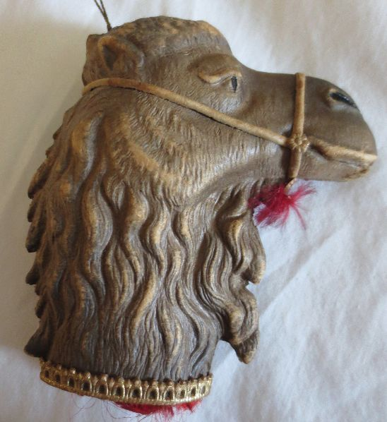 Dresden Camel Head Candy Container