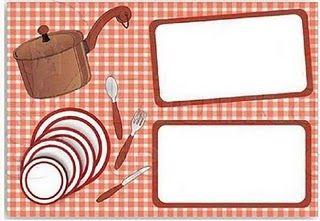 Pesquisando na internet encontrei + alguns modelos de convites para chá de cozinha/panela..