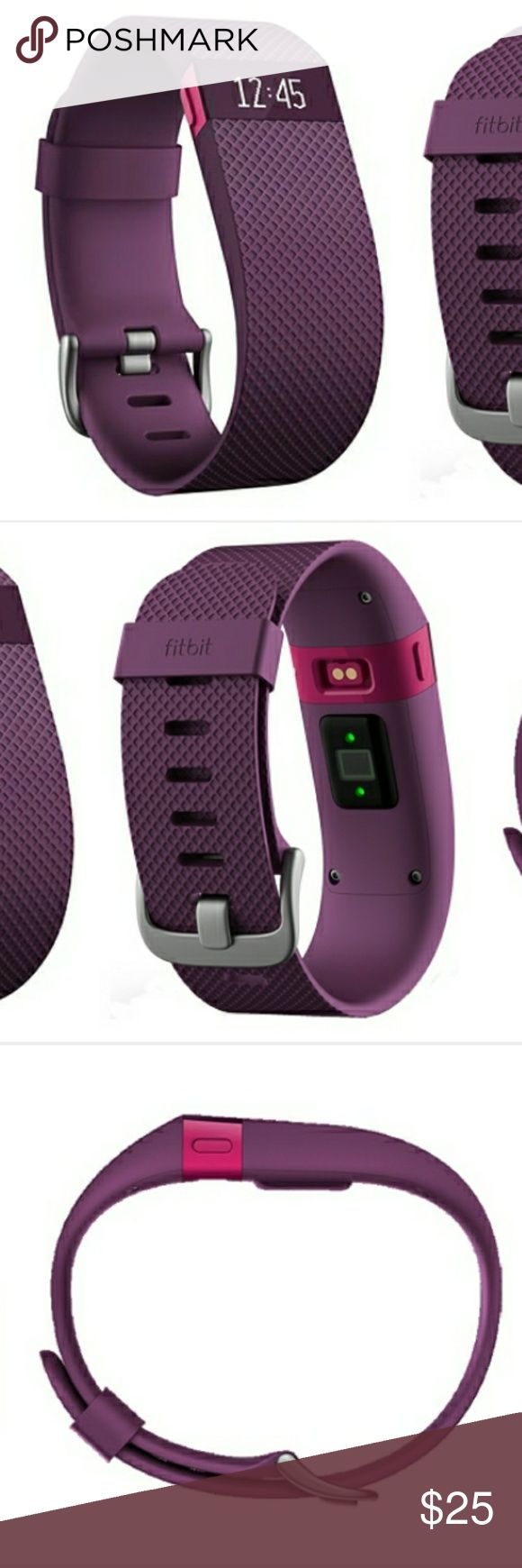 Fitbit Charge HR Fitbit Charge HR Wireless Heart Rate + Activity Wristband:?This heart rate and activity tracking wristband is built to capture your movements and health patterns all day long. Easily monitor your heart rate so you can maximize your workouts, learn about your sleep quality and monitor progress on your goals. FITBIT LOGO BAND IN PIC 2 IS MISSING! Make an offer Fitbit  Other