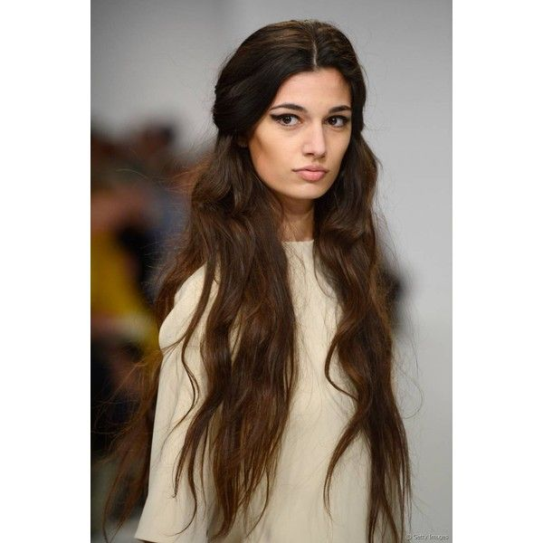 Top 3 Trendy Hairstyles for Very Long Hair ❤ liked on Polyvore featuring beauty products, haircare, hair styling tools, hair and hairstyles