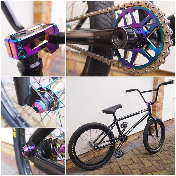 """""""Our demo bike fully equipped with our rainbow finish components! All available now at www.tlcbikes.com #bmx #bmxbike #tlcbikes #tlcbmx #bmxparts…"""""""
