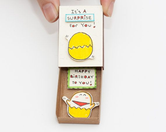 Surprise Birthday Card Matchbox/ Gift box/ It's a by shop3xu