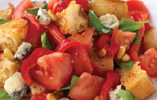 Bread Salad recipe. Rustic, and much more flavoursome than the name suggests. #30MinuteMeals