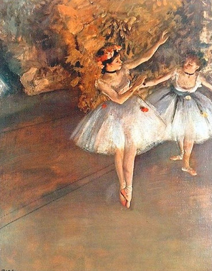 Degas Most Famous Paintings | Two Dancers on the Stage by Edgar Degas - ArtinthePicture.com