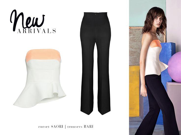 Presenting easy elegance: BARI trousers and SAORI corset #LaMania