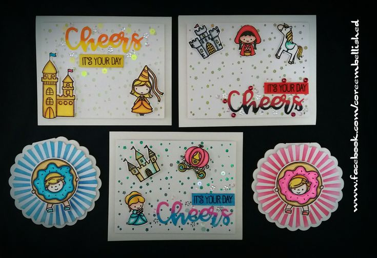 #handmadecards #princess #stamping #cute #astronaut #birthday #donut #birthdaycards