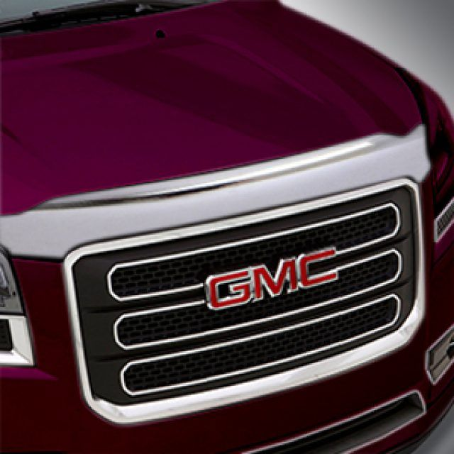 Aeroskin Hood Protector In Chrome By Lund Associated Accessories Gmc Accessories Bose Soundlink Mini Acadia Denali